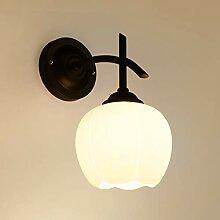 Nordische Wandlampe Schlafzimmer Eisen Glasschirm
