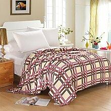 nordischen Stil Gestreift Blumen/Blumen Polyester [verdicken] Sofadecken-C 150*200cm(59x79inch)