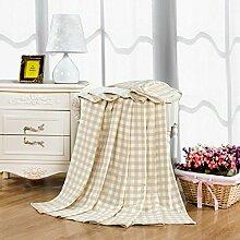 nordischen Stil Gestreift Einfarbig 100% Baumwolle Sofadecken-A 150*200cm(59x79inch)