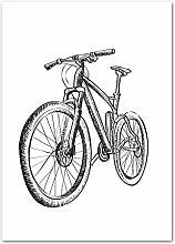 Nordischen Stil HD Wandkunst Roller Mountainbike