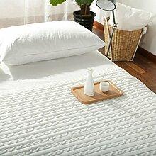 nordischen Stil [Stricken] Weiß Einfarbig Sofadecken-A 110x180cm(43x71inch)