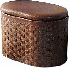 Nordischer Rattanwechsel Schuhpuff Tür Verschleiß Schuh Schemel Sofa Lagerung Stuhl Aufbewahrungshocker (Wahlweise freigestellte Größe) ( größe : S )