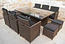 NORDLAND Premium-Gartenmöbel Set Polyrattan für