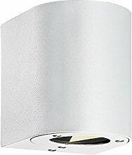 Nordlux LED Wandleuchte CANTO Außenleuchte, 2x3W LED, 2700K, 260lm, IP44, weiß EEK: A