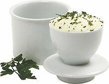 Norpro Porzellan-Butterdose, weiß