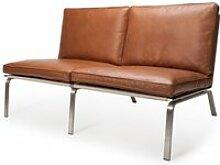 NORR11 - Man Sofa 2-Sitzer, Vintage Leder Cognac