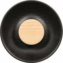 Norrmade - Double Kleiderhaken, innen: natur / außen: schwarz