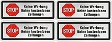 norrun Bitte Keine Werbung Briefkasten Schilder