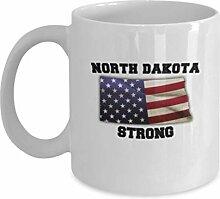 North Dakota State Kaffeetasse - Porzellan Weiß