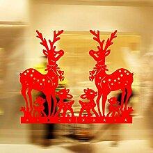 North King Deko Fenster Aufkleber Weihnachten