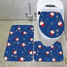 North King Weihnachten Türmatte Teppich,WC Bad