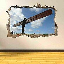 North Newcastle Angel Wandkunst Aufkleber Wandbild