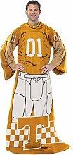 Northwest NCAA Tennessee Freiwilligen Erwachsene Player Uniform gemütlichen Überwurf Decke mit Ärmeln, 116,8x 180,3cm orange