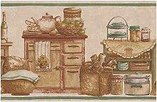 Norwall Küche Truhen Essen Gläser Brot Früchte