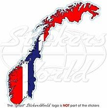 Norwegen-Aufkleber mit Norwegen-Flagge, Kongeriket Norge, Noreg 11,9cm, Vinyl