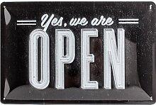 Nostalgic-Art 22211 Open Bar Yes, we are Open Blechschild, 20 x 30 cm