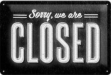 Nostalgic-Art 22219 Open Bar Sorry, we are Closed Blechschild, 20 x 30 cm