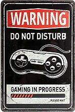 Nostalgic-Art 22264 Achtung - Gaming in progress,