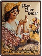 Nostalgic-Art 23162 Open Bar - Wer Bier trinkt