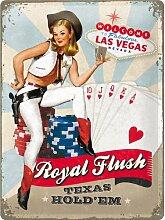 Nostalgic-Art 23179 Open Bar Royal Flush, Blechschild, 30 x 40 cm