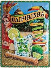 Nostalgic-Art 23227 Open Bar Caipirinha, Blechschild, 30 x 40  cm
