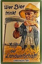 Nostalgic-Art 24006 Open Bar - Wer Bier trinkt