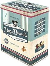 Nostalgic-Art 30145, Pfotenschild-Dog Bisquits, Vorratsdose L L, Metall, Bunt, 10 x 14 x 20 cm