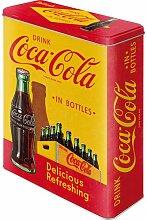 Nostalgic-Art 30322 Vorratsdose Coca-Cola In Bottles, gelb