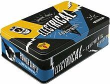Nostalgic-Art 30716 Best Garage Electrical Equipment, Vorratsdose Flach