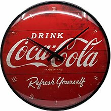 Nostalgic-Art 51074 Coca-Cola - Logo Red Refresh