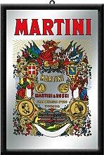 Nostalgic-Art 80720 Bier und Spirituosen Martini, Spiegel, 20 x 30 cm