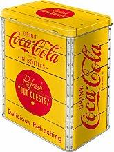 Nostalgic-Art 81882 Coca-Cola Yellow Logo, Vorratsdose L - Special Edition, Metall, bunt, 10 x 14 x 20 cm