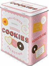 Nostalgic-Art 81884 Home und Country Wonder Cookies, Vorratsdose L - Special Edition Vorratsdose L, Metall, Bunt, 10 x 14 x 20 cm