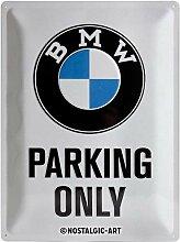 Nostalgic-Art BMW – Parking Only White –