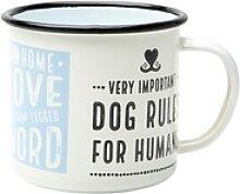 Nostalgic Art Emaille-Becher Dog Rules bunt,