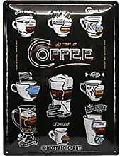 Nostalgic-Art Retro Blechschild Anatomy of Coffee