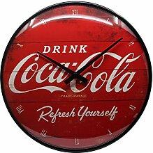 Nostalgic-Art Wanduhr, Coca-Cola - Logo Red