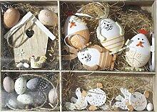 Nostalgic Garten 26teiliges Osterset Ostereier