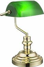 Nostalgie Antik Retro Tisch Lampe Banker Leuchte