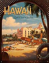Nostalgie-Blechschild - Erickson - Hawaii Sun and