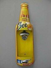 Nostalgie Blechschild mit Öffner, Free Beer,