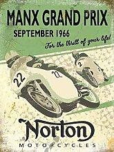 Nostalgie Blechschild - Norton Manx Grand Prix