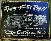 Nostalgie-Blechschild - Vintage Evil Racing 40x31cm