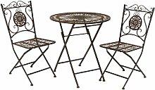 Nostalgie Landhaus Sitzgarnitur Metall 1 Tisch 2