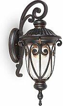 Nostalgische Außenlampe Wandleuchte antik hängend Außenleuchte Industrie Industrielampe Wandlampe für Hof & Garten E27