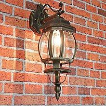 Nostalgische Außenlampe Wandleuchte Brest in antik hängend/IP23 E27 60W/Außenleuchte Wandlampe für Hof & Garten