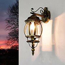 Alu Außenlampe E27 Wandleuchte Licht Garten Lampe Leuchte Retro Antik Weiß