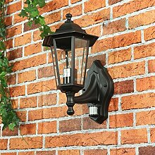 Nostalgische Außenleuchte Wandlampe Paris mit Bewegungsmelder/E27 230V IP44/Sensor verstellbar Wandleuchte Außenlampe