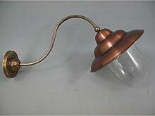 Nostalgische Wandlampe Kupfer Messing