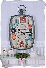 Nostalgische Wanduhr/Küchenuhr/Quarzuhr/Zimmeruhr/Uhr mit schrillen Farben und verspielter Optik, damit auch für Kinderzimmer geeignet, zudem im angesagten Industrie-Stil - Palazzo Exclusive